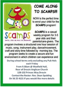 SCAMPS-stories, craft and music for preschoolers @ Maxfield Hall- back of Drouin Anglican Church | Drouin | Victoria | Australia