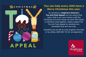anglicare christmas toy and food appeal
