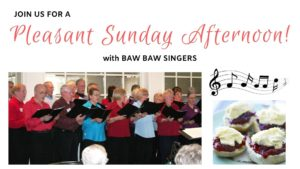 Pleasant Sunday Afternoon with the Baw Baw Singers @ Christ Church Drouin